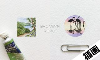 Bronwyn Royce 的「微型水彩」画作